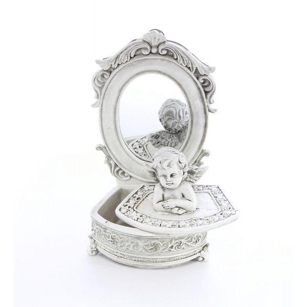 Caseta de bijuterii ingeras cu oglinda A52-03