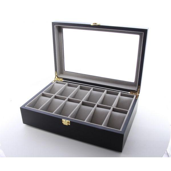 Cutie pentru ceasuri din lemn negru A59-08