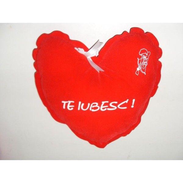 Perna inima cu mesaj te iubesc