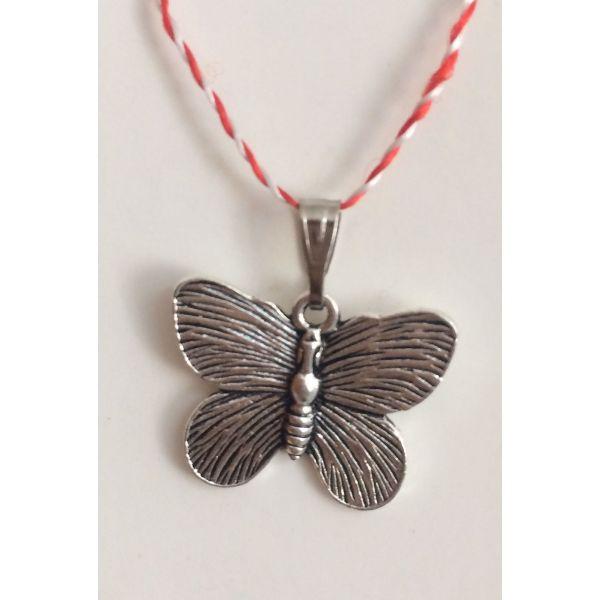 Martisoare fluture argintiu