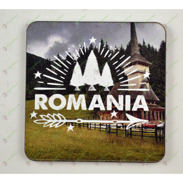 MAGNET PRINTAT-ROMANIA BISERICA -6CM