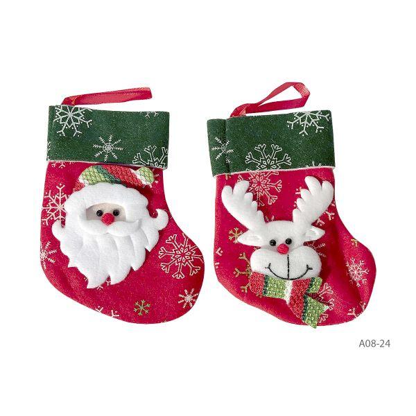 Ciorapel Craciun textil B08-24