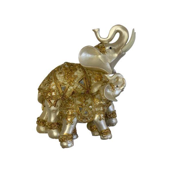 Bibelou 2 elefanti A45-21