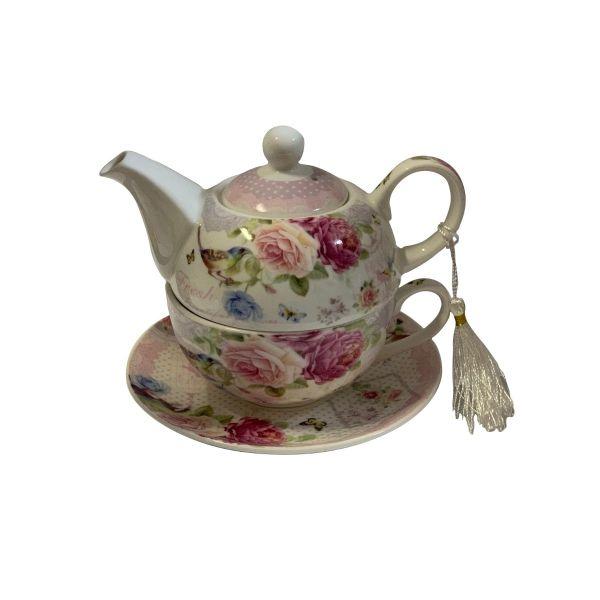 Ceainic cu cescuta si farfurioara B02-53