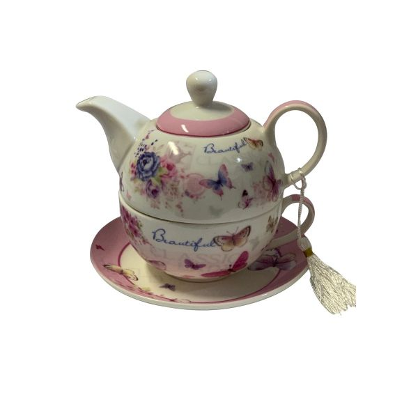 Ceainic cu cescuta si farfurioara B02-82