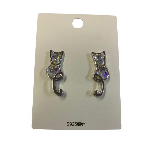 Cercei pisica cu pietricele C19-17