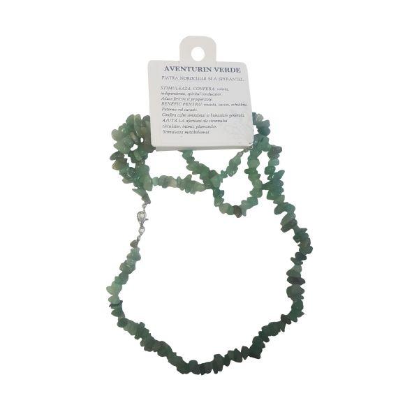 Set colier cu bratara pietre norocoase aventurin verde C21-02