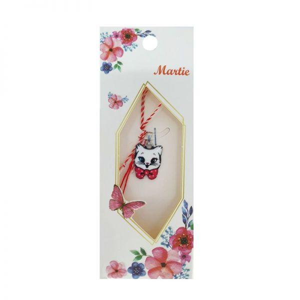 Martisor pandantiv pisica funda rosie, Cadouridiversity, C30