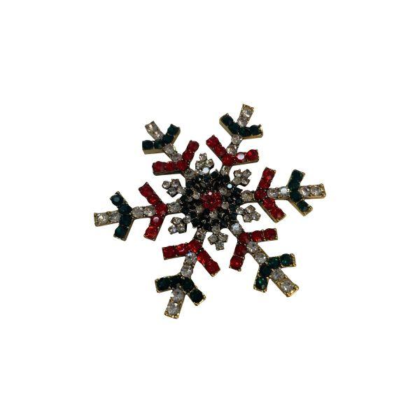 Magnet Craciun fulg de nea D40-14