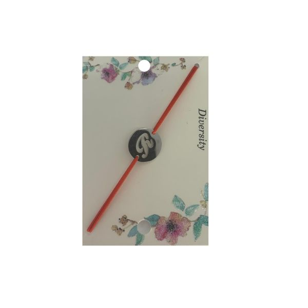 Bratara cu initiala R din inox, Cadouridiversity, D70-14R