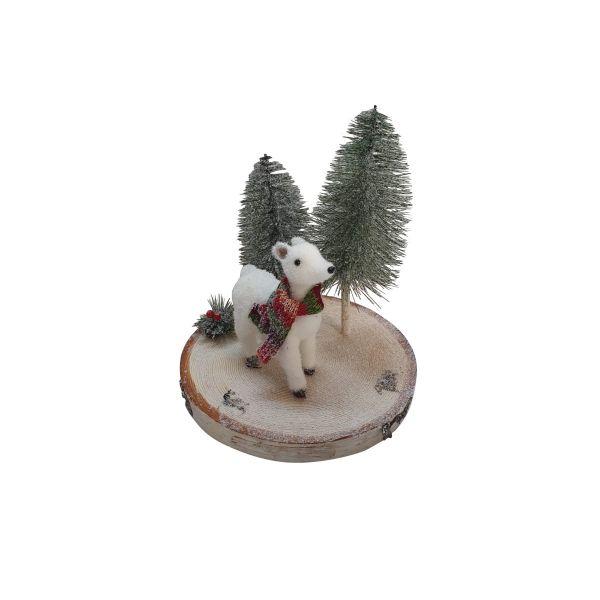 Decoratiune ren in padure Craciun E11-03