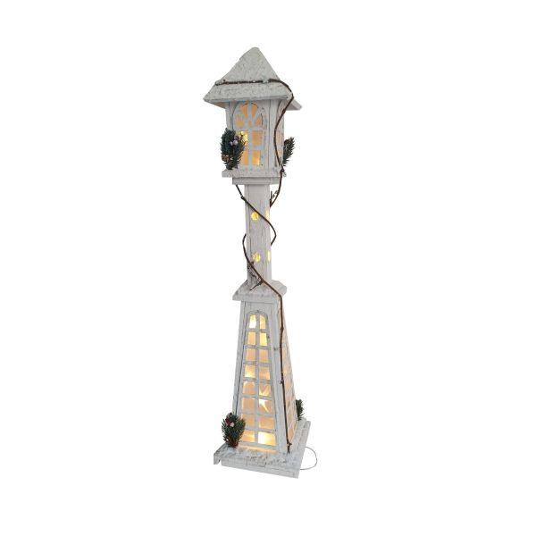 Felinar din lemn cu lumina Craciun E11-07