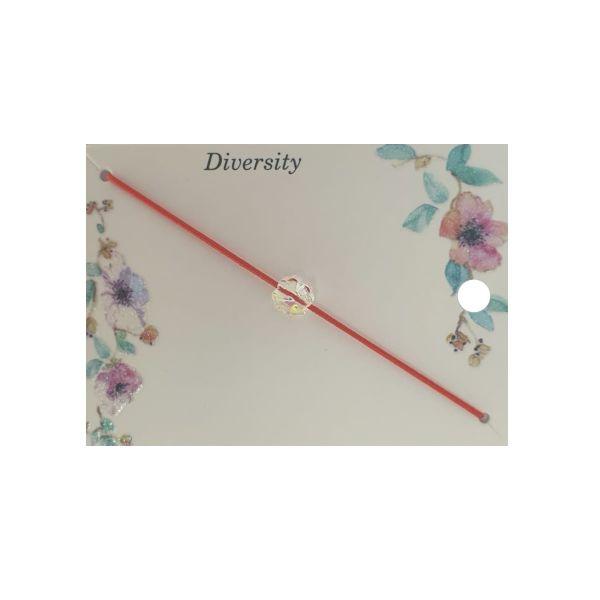 Bratara trifoi cristal swarovski, elastic rosu, E36-03