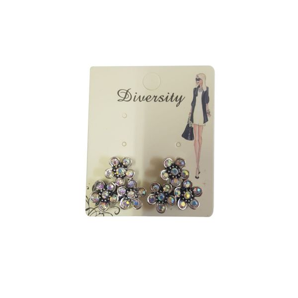Cercei floricele cu pietricele E40-12