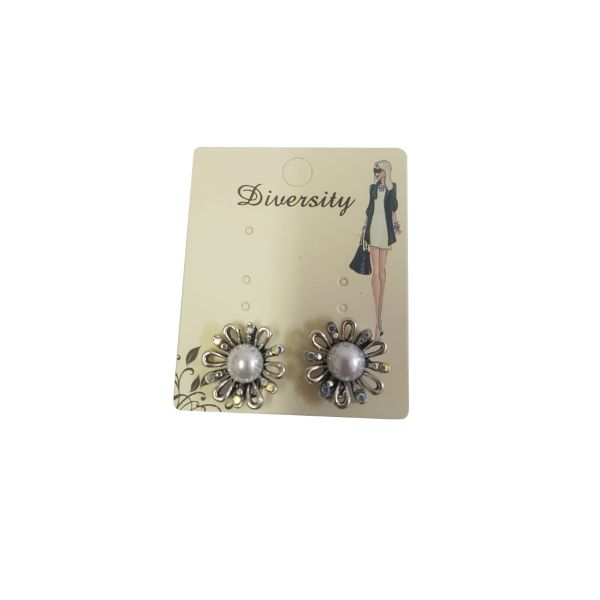 Cercei floricele cu perla E40-13