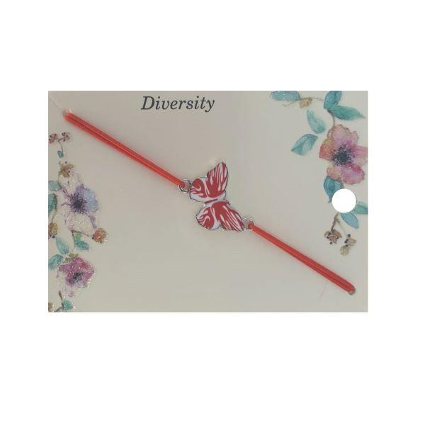Martisor bratara fluture email rosu, elastic rosu, Cadouridiversity