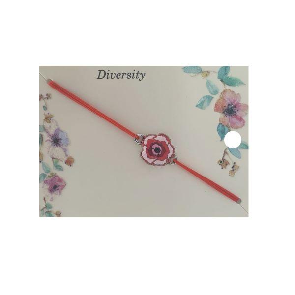 Martisor bratara trandafir email rosu, Cadouridiversity, E41-09