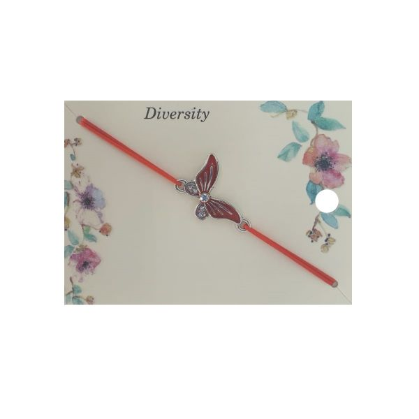 Martisor bratara fluture email rosu, Cadouridiversity, E42-14