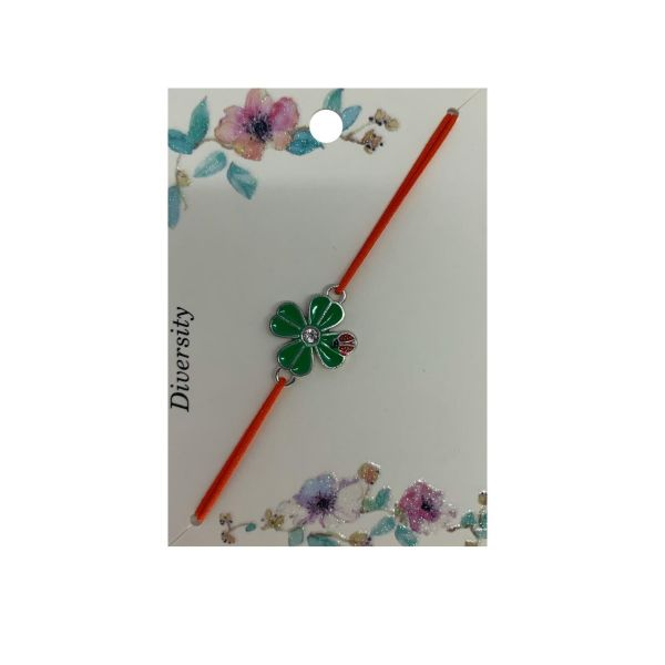 Martisor bratara cu gargarita, elastic verde, Cadouridiversity, E42-18