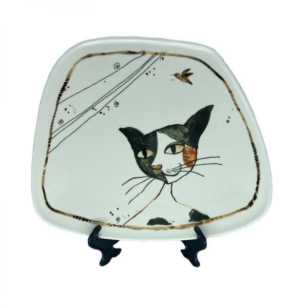 Farfurie imprimeu pisica F02-02