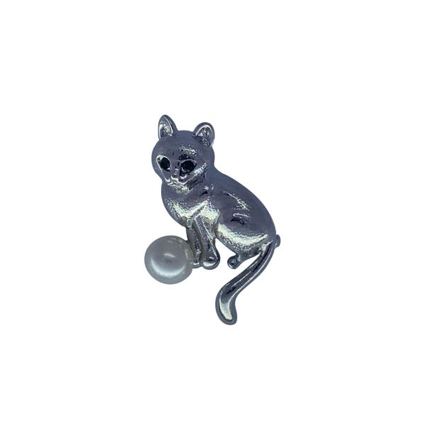 Brosa pisica cu perla F03-23