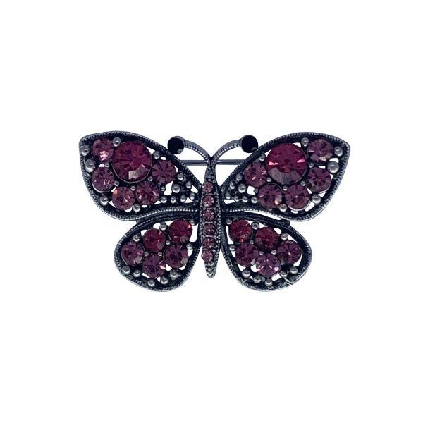 Brosa fluture cu pietricele F03-30