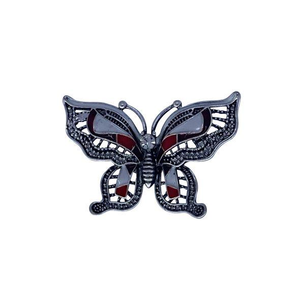 Brosa fluture cu pietricele F03-38