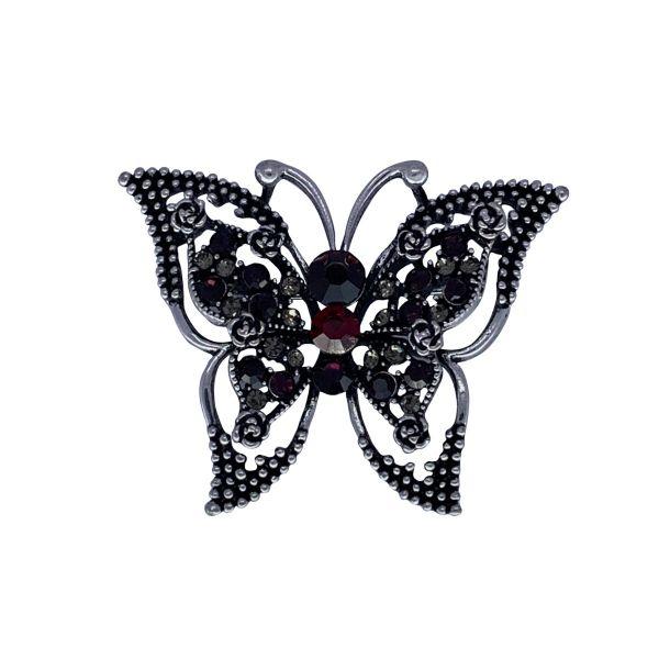 Brosa fluture cu pietricele F04-03
