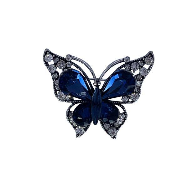 Brosa fluture cu pietricele F04-10