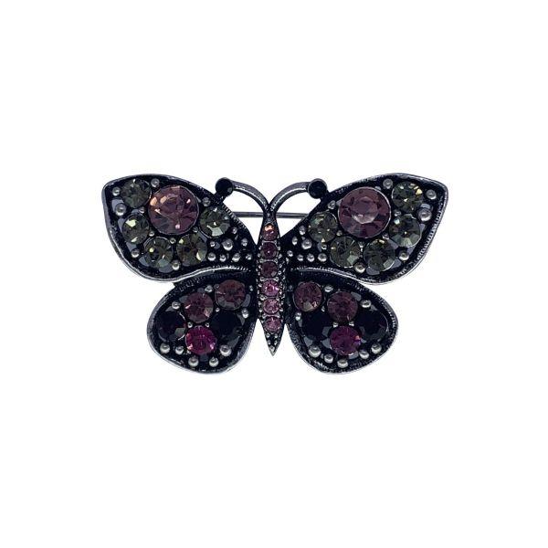 Brosa fluture cu pietricele F04-13