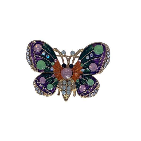 Brosa fluture cu pietricele F04-19
