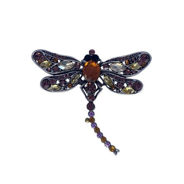 Brosa libelula cu pietricele F04-29