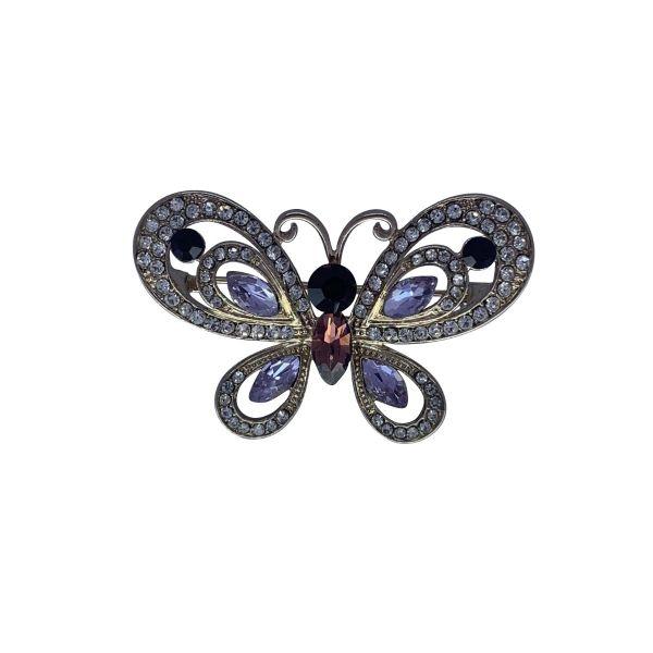 Brosa fluture cu pietricele F04-31