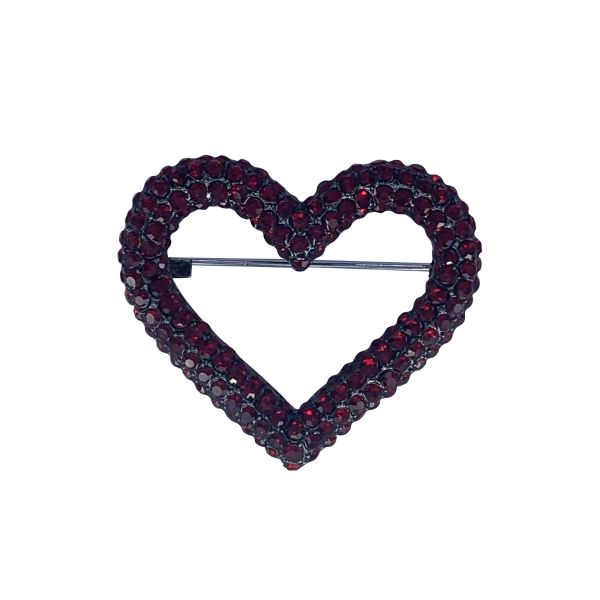 Brosa inima cu pietricele F04-39