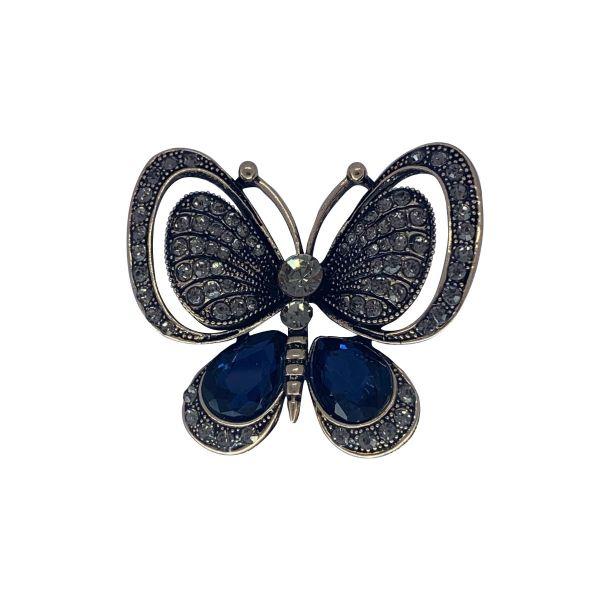 Brosa fluture cu pietricele F04-40