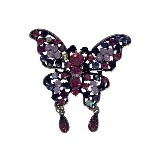 Brosa fluture cu pietricele F04-41