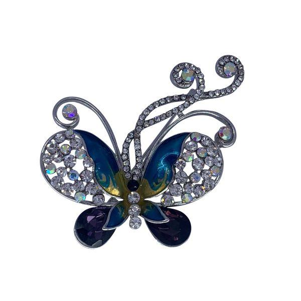 Brosa fluture cu pietricele F04-42