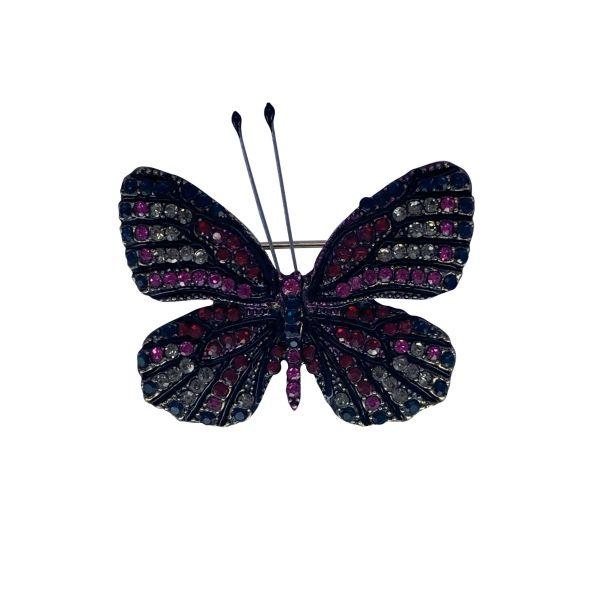 Brosa fluture cu pietricele F04-44