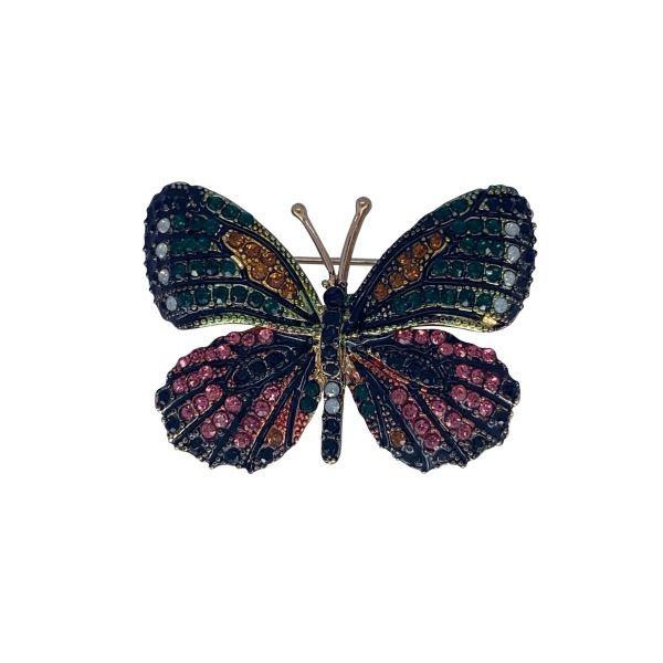 Brosa fluture cu pietricele F04-45