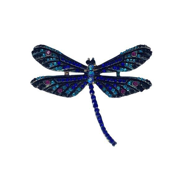 Brosa libelula cu pietricele F04-46
