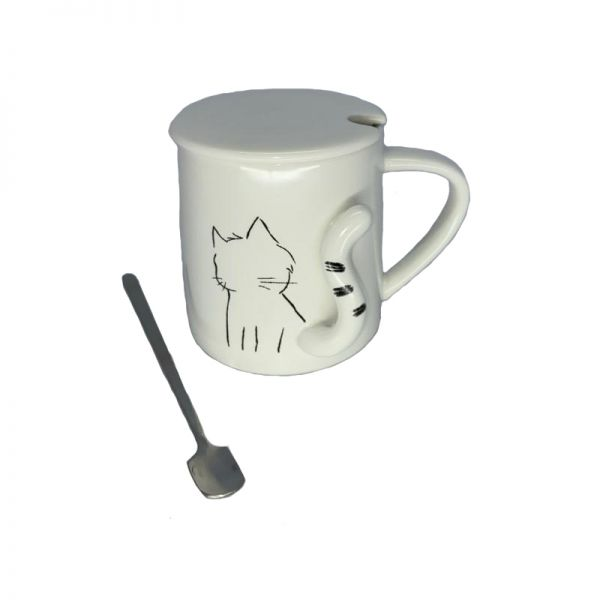 Cana pisica cu lingurita si capac G10-01