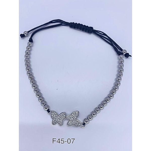 Bratara fluturi cu pietricele F45-07