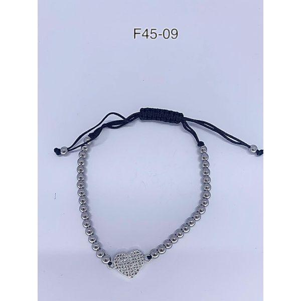 Bratara inima cu pietricele F45-09