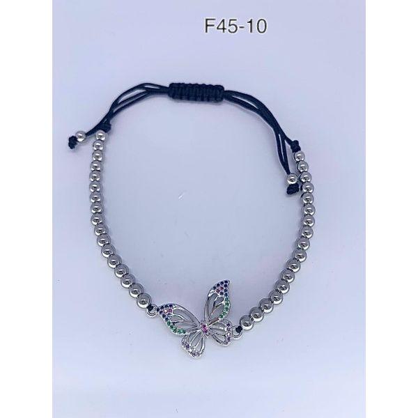 Bratara fluture cu pietricele F45-10