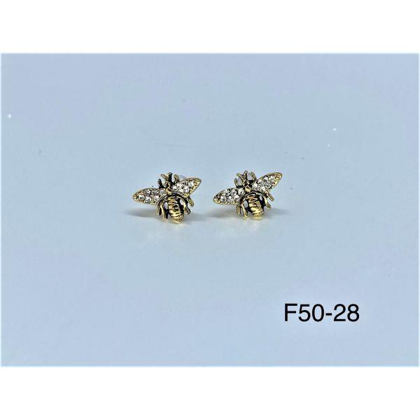 Cercei albina cu pietricele F50-28