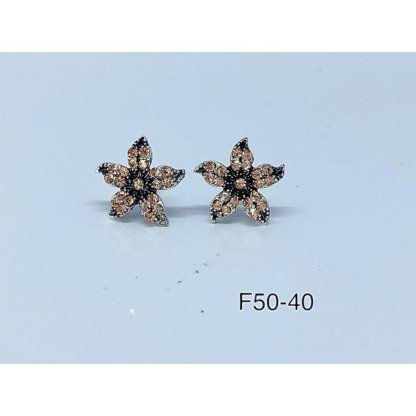 Cercei floare cu pietricele F50-40