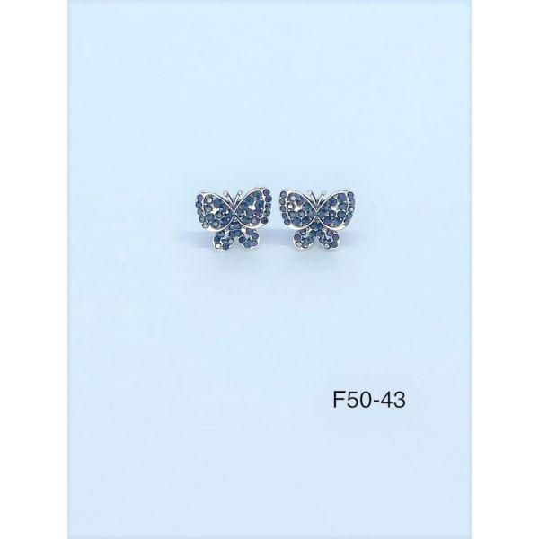 Cercei fluture cu pietricele F50-43