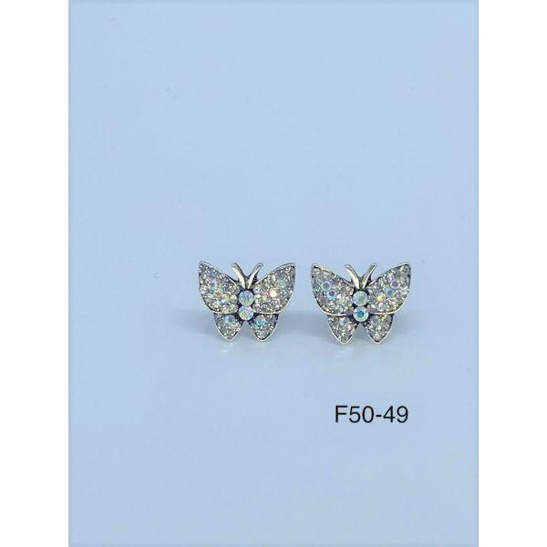 Cercei fluture cu pietricele F50-49