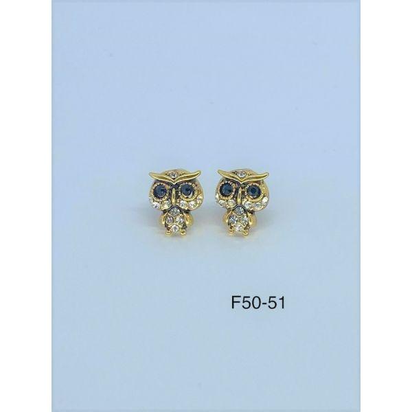 Cercei bufnita cu pietricele F50-51