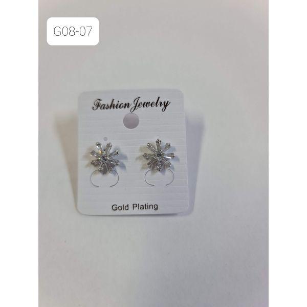Cercei floare cu pietricele G08-07